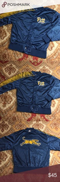 Vintage Pittsburgh Panthers Starter Track Jacket Designed and tailored exclusively for the Pittsburgh Panthers - excellent condition- men's Large starter Jackets & Coats