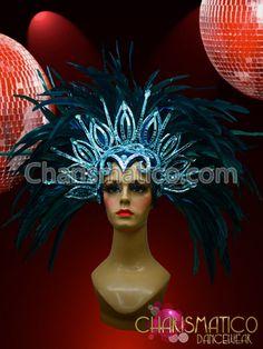 Rio Carnival Costumes Peacock   Black Feather Carnival Rio Gay Pride Head piece Headdress ...