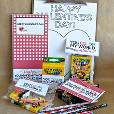 "You ""Color My World"" Valentine- adorable set available + over 100 more!! via www.thirtyhandmadedays.com"