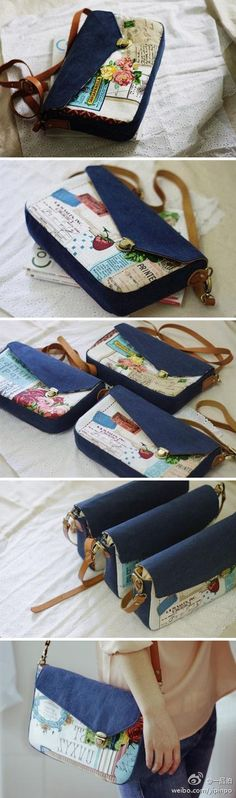 The simple retro cotton and linen bag