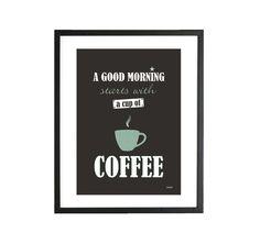 ★ GOOD MORNING COFFEE ★ PRINT A5 millimi von millimi auf DaWanda.com