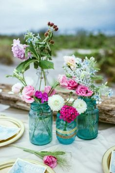 44 Adorable Boho Chic Wedding Centerpieces | HappyWedd.com