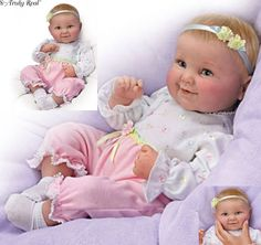 Sweet Cheeks - giggles coos - Poseable Baby Doll by Ashton Drake