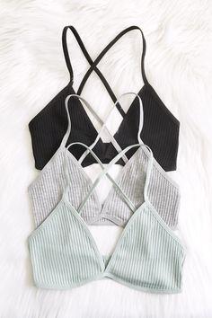 Serena Rib Knit Bralette