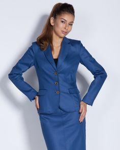 Дамско сако вталено - синьо - Crown #Efrea #Ефреа #online #онлайн #пазаруване #дрехи
