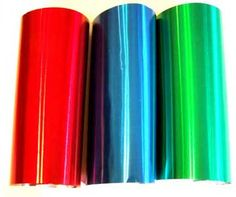 Colored Aluminum Foils That Have A Retro Annodised Look There Is Also Gold And Copper
