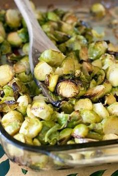 Oven Roasted Garlic Brussels Sprouts
