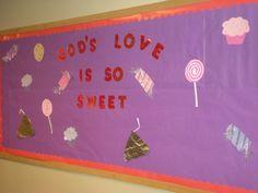 blooming in god's love bulletin board | God's Love is So Sweet - Valentine Bulletin Board for Church
