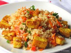Curried Tofu Quinoa Salad