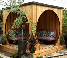 Garden structures can transform your outdoor space from pretty standard to utterly unique. Here are some great examples from wooden gazebos to garden pods! Outdoor Rooms, Outdoor Gardens, Outdoor Living, Outdoor Decor, Outdoor Baths, Backyard Seating, Backyard Landscaping, Backyard Ideas, Landscaping Ideas