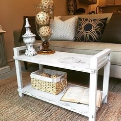 🌿🌿Honestly, I don't even know what this was when we found it... it had wheels on it, was made of laminate wood I believe and looked like an ugly little cart. 😳😉 @blake919 had the smart idea to take the wheels off and once painted, it was the cutest little coffee table ever! 😍🙌🏻 #repurposing your tired and worn out and even junky home decor can be so exciting! This little guy even got a stencil (one day I'll share my tips and tricks on that one 😝) and that made it look 👌🏻❤…