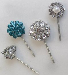 Rhinestone Bridal Hair Pins by TheRedMagnolia