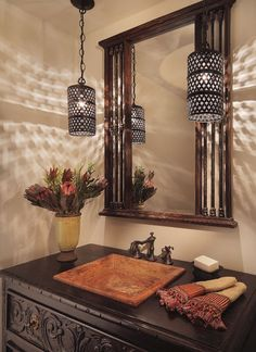 Rustic Bathroom Lighting, Rustic Lighting, Light Bathroom, Lighting Design, Lighting Ideas, Bathroom Ideas, Mirror Bathroom, Bathroom Designs, Houzz Bathroom