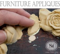 Here's an easy tutorial on how to glue on furniture appliques to update or 'fancy' up a piece of furniture, frames, cabinets, planters, or anything with a flat surface!