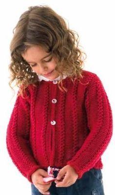 Cardigan with Mock Cable Patterning Free Knitting Toddler Cardigan, Baby Girl Cardigans, Girls Sweaters, Cable Pattern Free, Baby Cardigan Knitting Pattern, Knitting For Kids, Free Knitting, Knitting Needles, Baby Knitting Patterns