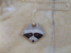 Racoon Polymer and Resin Necklace by DelightfullyTwisted on Etsy