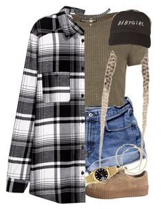 """""""21:10"""" by mcmlxxi ❤ liked on Polyvore featuring Abercrombie & Fitch, Topshop, Wet Seal and Rolex"""