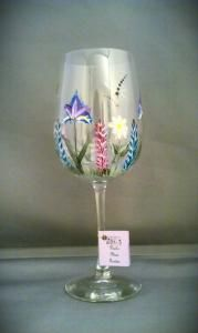 Dragonfly Garden Wine Glass $15.00 Buy and Sell Crafts On Line | Handmade Crafts to Sell? Free Posting
