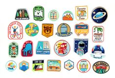 4 piece patch pack with discounted shipping! Customers choice, just let us know the patches youd like in the notes to seller: can be any patch combination.  Take your pick from any patch in the shop!  Space Explorer No Handed Bike Club Water League Jet Setter Camera Crew Bear Friend Society Dinos & Hot Dogs Time Traveler Camping Club Camping Cabins Plaid Shirt Neon Mountains Galaxy Planet Robot Machine Go Wild Camp Out Get Moving Head North Sheet Ghost Society 3 Mountains Palm Surf Perfect…