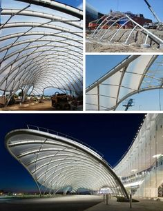Location: Yonkers, New YorkFabric Type: ETFE FilmMarket Sector: Entertainment & LeisureProject Size: Shell Structure, Membrane Structure, Roof Structure, Architecture Design, Canopy Architecture, Modern Roofing, Parametric Design, Canopy Design, House With Porch