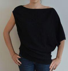 Pull noir asymétrique Bershka dans Pull / vêtements / mode
