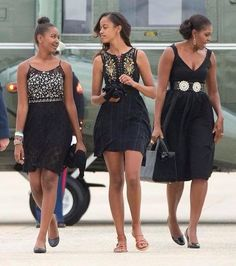 THE OBAM'S FIRST LADY & FIRST DAUGHTERS-:) TRIPLE BEAUTY-:)