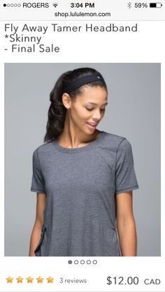 lululemon makes technical athletic clothes for yoga, running, working out, and most other sweaty pursuits. Stocking Stuffers For Women, Athletic Headbands, Headbands For Women, Athletic Outfits, Lululemon, T Shirts For Women, Skinny, Clothes, Tops