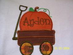 Fall Boys Pumpkin Shirt by mydoodlebugbows on Etsy