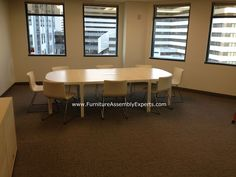 ikea bekant conference table assembled in bethesda MD by Furniture Assembly Experts LLC
