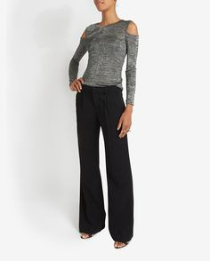 Wide flares with slim tucked top. A.L.C. Rude Flare Pant | Shop IntermixOnline.com