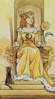 Queen of Wands - Lo Scarabeo Tarot
