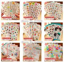 Super Nette PVC Aufkleber für DIY Alben Tagebuch Dekoration Cartoon Scrapbooking Kawaii Schule Büromaterial(China (Mainland))