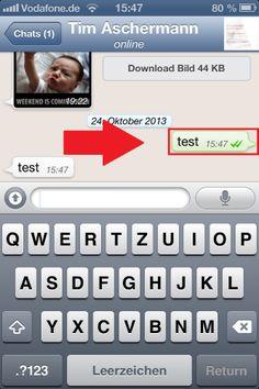 WhatsApp-Nachricht unlöschbar