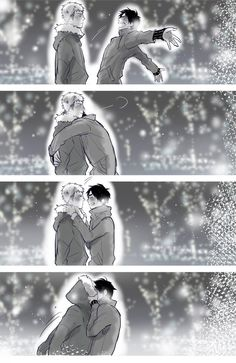 Jean Kirstein x Eren Jaeger (my fav ship is levi x eren) but idk any more so much cute gay couples ;-;