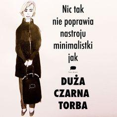 Czarna torba dla minimalistki.  #handbag #blackbag #minimal #minimalist #fashion_illustration #big_bag #minimal_fashion