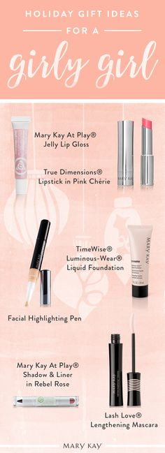 If you're trying to find a gift for the girly girl in your life, we have exactly what you need. For the woman who loves soft pinks, lovely lashes and a luminous glow, we recommend these six makeup products. They will take her from Saturday brunch, to the office, to a night out with a pop of pink on her lips! | Mary Kay