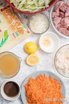 One-Pot Pancit is a quick and easy rice noodle dinner the whole family will love. With chicken, shrimp, and vegetables, this delicious recipe is gluten-free and kid-approved too! Chinese Food Menu, Easy Chinese Recipes, Filipino Recipes, Filipino Food, Pancit Recipe, Gluten Free Casserole, Rice Noodle Recipes, Vegetarian Recipes, Cooking Recipes