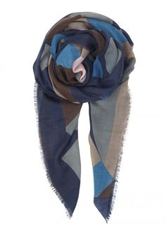 Becksöndergaard's Neuf scarf will keep you warm and fashionable. Made from 90% wool and 10% cashmere. It has an elegant and colorful design. Use it over your coat for a more unique look. Size: 110 x 190 cm.