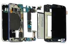 And, my favorite shot of the day. #SamsungGalaxyS6 components as #TeardownArt.More to come #Samsung fans!!