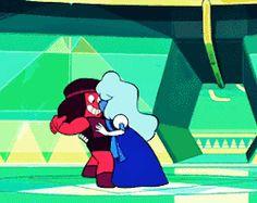 Steven+Universe+Sapphire | mygifs ruby sapphire garnet steven universe jail break steven universe ...