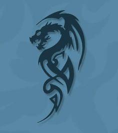 Tatuagem masculina de Dragão - SaberMania
