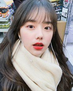 Ulzzang Korean Girl, Cute Korean Girl, Asian Girl, Korean Beauty Girls, Asian Beauty, Cute Korean Fashion, How To Cut Bangs, Ulzzang Makeup, Girl Korea