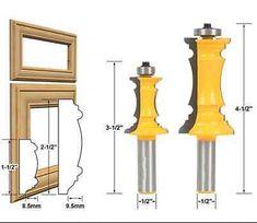 2 Bit Raised Panel Cabinet Door Router Bit Set - 1/2\