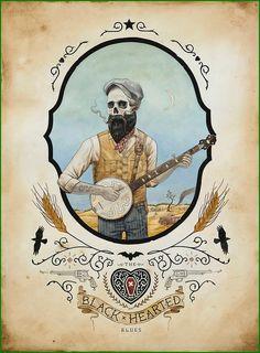 The Black Hearted Blues by Derek Nobbs