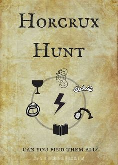 In honor of Harry Potter's birthday, one librarian has schemed a Horcrux Hun. Harry Potter Party Games, Harry Potter Activities, Harry Potter Halloween Party, Theme Harry Potter, Harry Potter Birthday, Voldemort, Slytherin, Hogwarts, Harry Potter Library