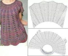 New Woman's Crochet Patterns Part 10 - Beautiful Crochet Patterns and Knitting Patterns Crochet World added a new photo — with Flor Calderon and 9 others. Crochet Yoke, Crochet Cardigan Pattern, Crochet Blouse, Baby Knitting Patterns, Sewing Patterns, Crochet Patterns, Crochet Summer Dresses, Diy Crafts Crochet, Crochet World