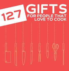 127 Cool Gifts for People That Love to Cook (I can't live without No. 87) - love these gift ideas! A must read for anyone that loves to cook.