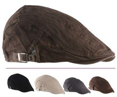 2015 New Solid Fashion Flat Cap Men s Sport Golf Driving Gorra Plana Beret  Boina Hats Gorras. Gorras PlanasGorra De PlatoSombreros ... 6d3ca903774
