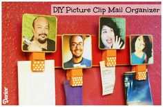 Grab you favorite Instagram photos and put them to use in a functional way with this awesome DIY clothespin mail organizer!
