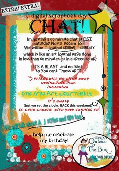 """Come """"meet ME"""" and create a digital Art Journal page, """"Spill journal"""" style!"""